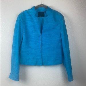 Carlisle Women's Suit Jacket Blazer Blue Silk 8
